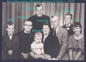 Ray Marguerite Hastings & Children w-Names 1950s.png