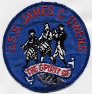 Perkins, Jack Monroe shoulder patch for USS James C Owens p-dd-776.jpg