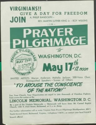 1957 Prayer Pilgrimage Flyer - Fold3.com