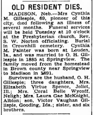 Cynthia Painter Gillespie 1938 Obit.jpg