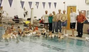 Flemington SWIM group (Al is standing poolside center)