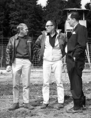 Steve McQueen, director John Sturges and technical advisor Wally Floody.jpg