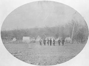 General Willis Gorman's headquarters at Camp Stone, near Edwards Ferry, Maryland..jpg
