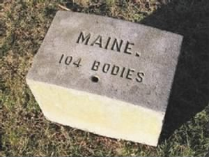 Maine Plot marker in the Gettysburg National Cemetery.jpg