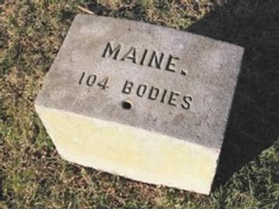 Maine Plot marker in the Gettysburg National Cemetery.jpg - Fold3.com