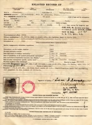 Sangregario, Sam S. USA Army Enlisted Record of.jpg