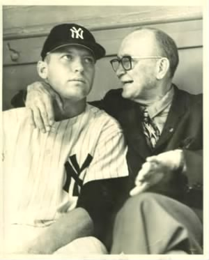 Ty Cobb with Mickey Mantle 1960.jpg