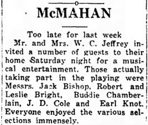 Oran Chamberlain 1932 Plays Music at Party.jpg
