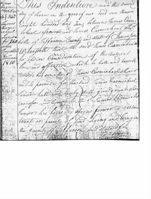 James Carmichael Sr to James Carmichael Jr 1810 Indenture.jpg
