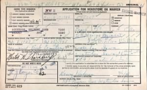 U.S., Headstone Applications