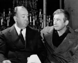 Alfred Hitchcock and Claude Rains, on the set. Notorious.jpg
