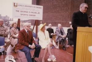 George Halas at George S. Halas, Jr. Sports Center Dedication.jpg
