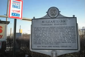 Site of McLean House in Manasass, near the Bull Run Battlefield