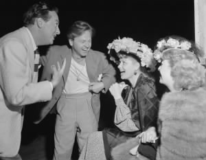 Jack Haley, Mickey Rooney, Lucille Ball.jpg