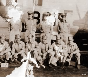 Far left front is Howard H ROBERSON, my Dad while in the Air Force.jpg
