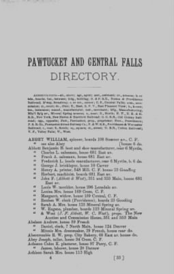 William Abbey, 1894, Pawtucket and Central Falls, Rhode Island