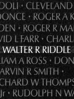 Walter Ray Riddle