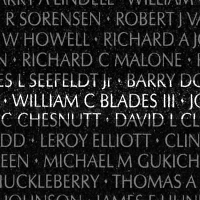 Billy's name on VietNam  wall