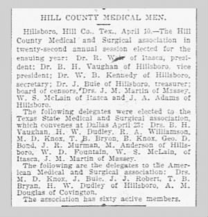 """Hill County Medical Men"""