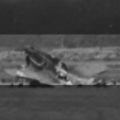 Wrecked P-40