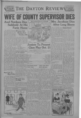 1944-Oct-19 Dayton Review, Page 1
