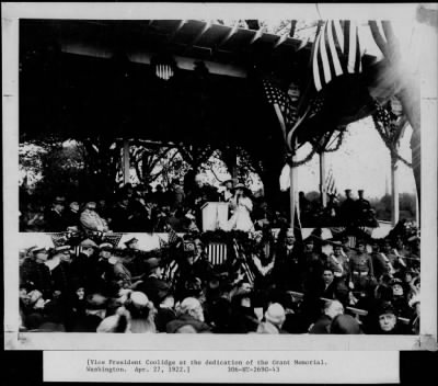 Vice President Coolidge at the dedication of Grant Memorial, Washington, D. C. › Page 1 - Fold3.com