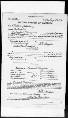 Passport Application of Frederick Douglass
