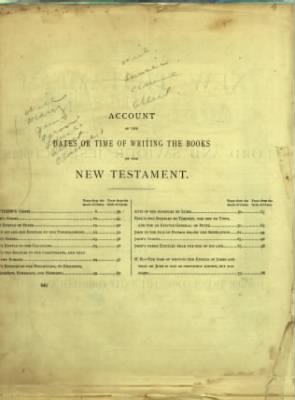 Louise Smith Waters' Family Bible Chapter Page