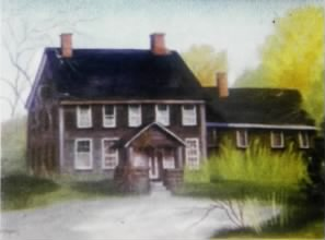 Henry Reuben Taylor Home Built 1869 Sherburne VT Where He Raised His Family -- Painter Dawn Krantz Nice.jpg